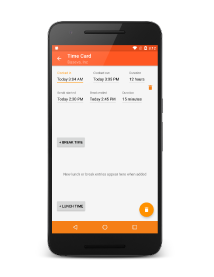 app brief - Time Card App For Android
